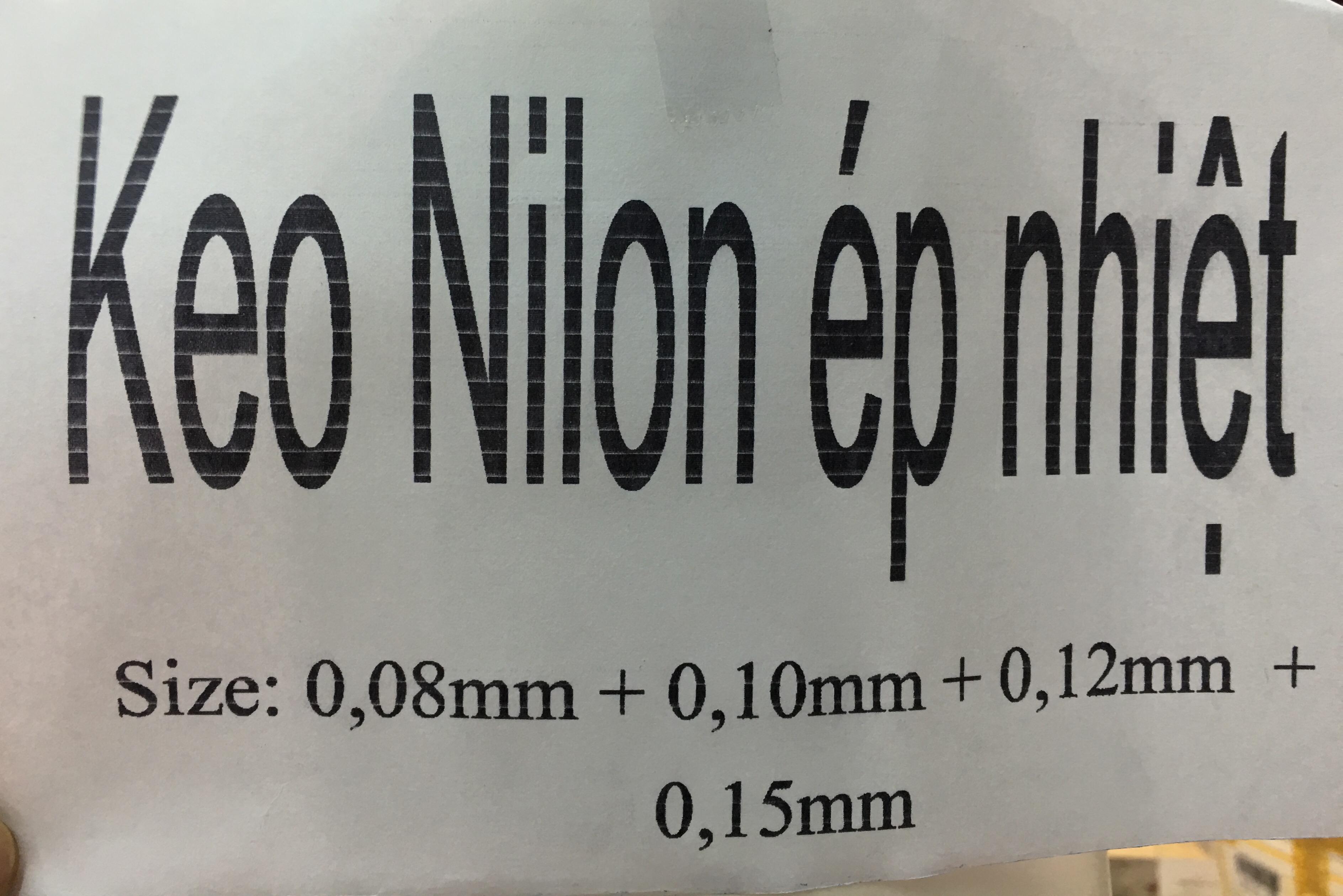 Keo Nilon Ép Nhiệt